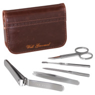 Ted Baker Walnut Brown Brogue Manicure Set (TED233)