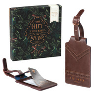 Ted Baker Walnut Brown Brogue Luggage Tag Set (TED236)