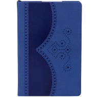 Ted Baker A5 Blue Textured Brogue Notebook (TED230)