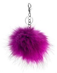 Real Fur Keyring (1093-PURPLE)