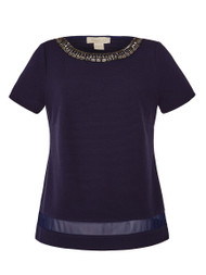 Pandora Embellished Top in Navy