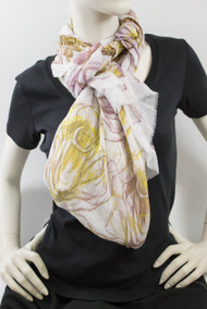 Ladies Purple Sketched Roses Scarf (SKETCH ROSES - PURPLE)