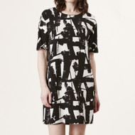 Gina Monochrome Crepe Dress (500390174)