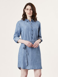 Lydia Denim Chambray Shirt Dress (500340117)