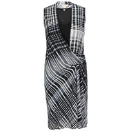 Celuu Adele Check Wrap Dress (500220085)