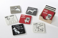 Set of 6 Dog Coasters (8pd111)