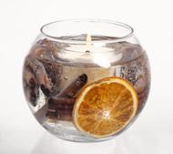 Stoneglow Modern Classics Fish Bowl Gel Candle, Cinnamon & Orange