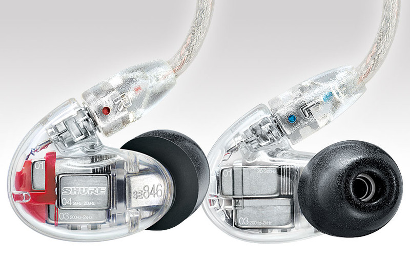 Shure SE846 4 driver earphones, balanced armature, top rated, in Canada at headphonebar.com