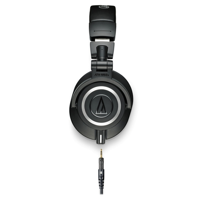 ath m50x black, closed back studio monitor headphones, at headphonebar.com