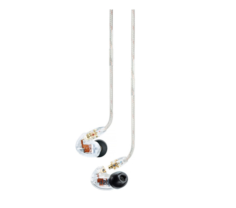 Shure SE425 clear, dual driver balanced armature earphones, best noise isolation, in Canada at headphonebar.com