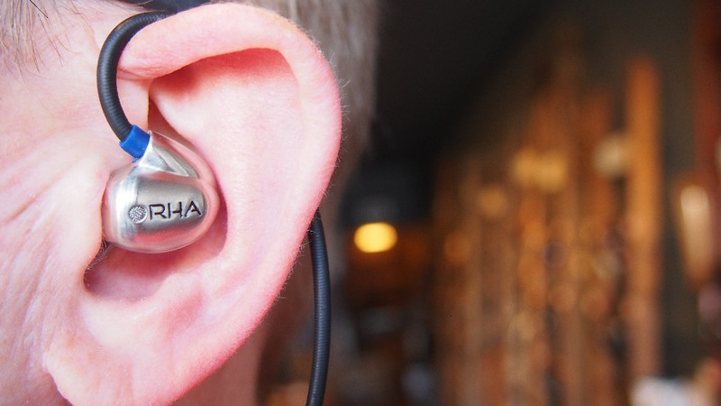 RHA T20i worn cable over ear