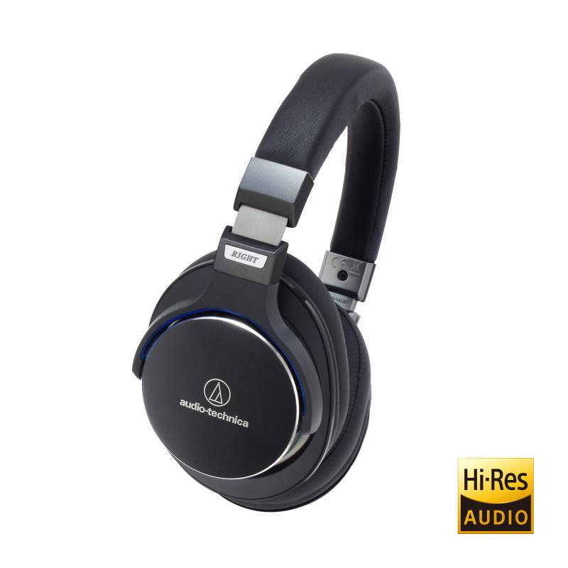 Audio Technica ath-msr7 closed back headphones, black finish