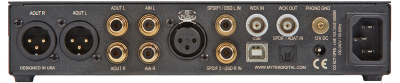 XLR output, 7 digital inputs, phono and analogue preamp