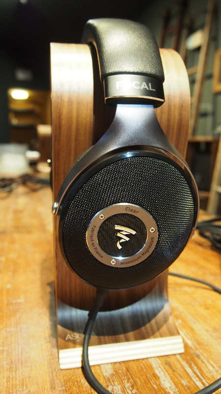 Focal Elear on Asona walnut stand