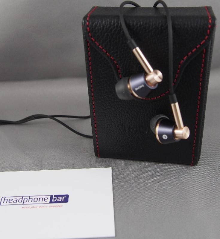 1MORE Triple Driver earphones, with carry case, gold finish