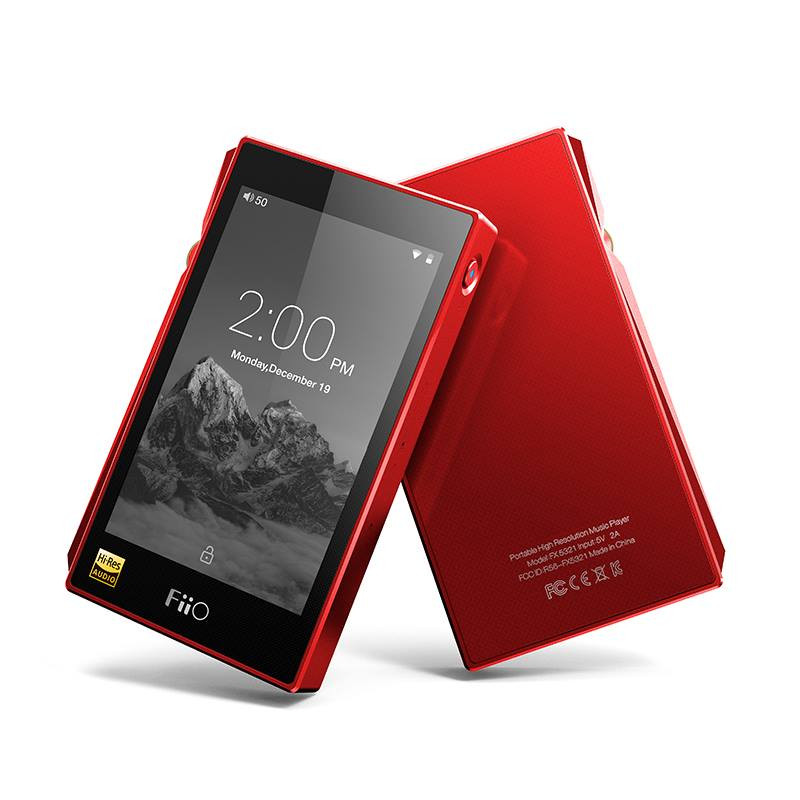 Fiio X5 3rd Gen, red finish, High res music player, in Canada at Headphone Bar