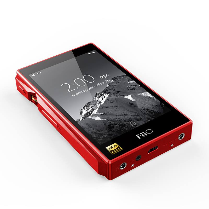 Fiio X5 red connections are all on bottom plate