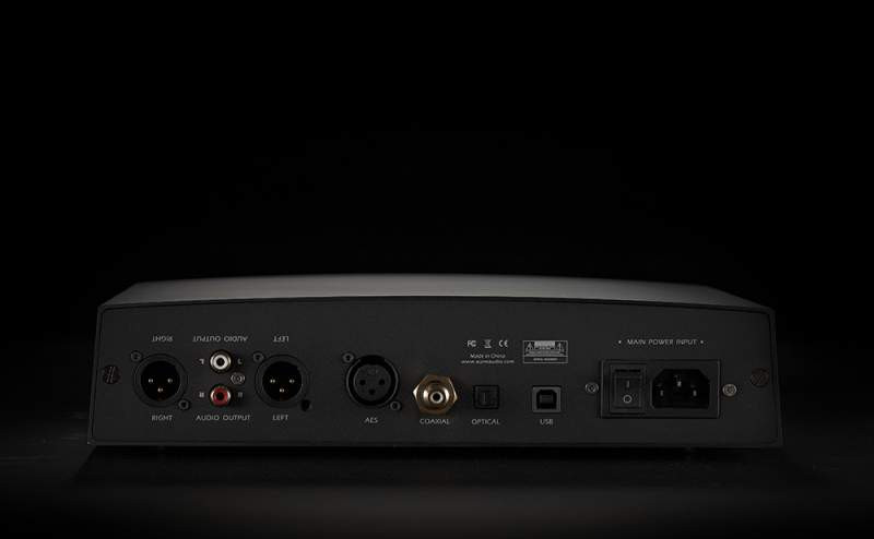 Aune S6 rear panel, has usb, coaxial, optical and AES digital inputs