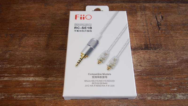 Fiio rcse1b balanced 2.5mm cable for Shure earphones