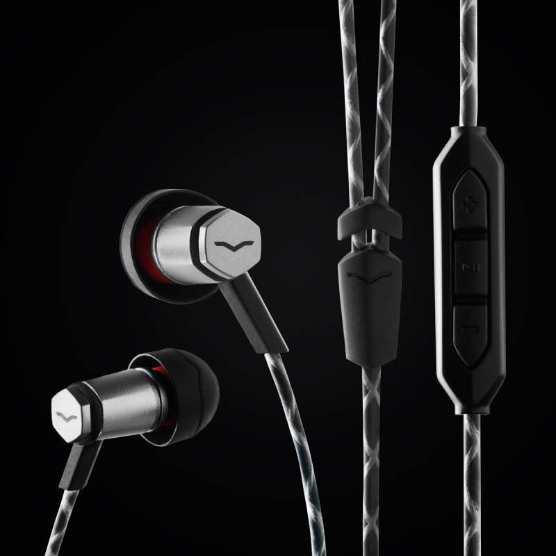 V-Moda Forza Metallo earphones, powerful micro driver, durable cable, great fit