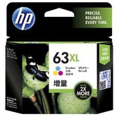 Hewlett Packard-Hp 63xl High Yield Tri-color Original Ink Cartridge SKU F6U63AA