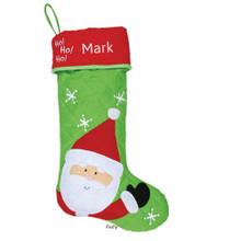 Monogrammed Santa Stocking