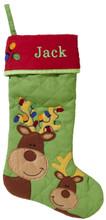 Monogrammed Reindeer Stocking