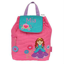 Personalized Kids Quilted Kids Backpacks or Custom Diaper Bags Princess