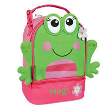 Monogrammed Kids Lunch Boxes pals in Frog