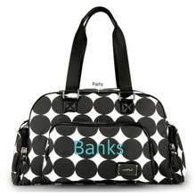 Black White Polka Dot OOYOO Custom Baby Diaper bags