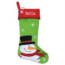 Monogrammed Snowman Stocking