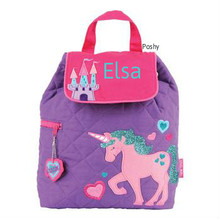 Personalized Kids Quilted Kids Backpacks or Custom Diaper Bags Unicorn