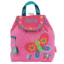 Personalized Kids Quilted Kids Backpacks or Custom Diaper Bags NEW Butterfly