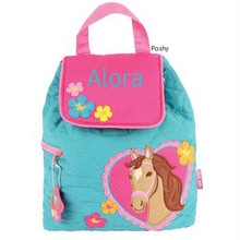 Personalized Kids Quilted Kids Backpacks or Custom Diaper Bags Girl horse