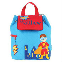 Personalized Kids Quilted Backpacks or Custom Diaper Super Hero