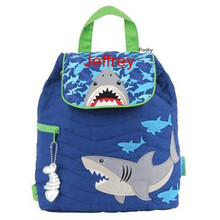 Personalized Kids Quilted Backpacks or Custom Diaper NEW Shark
