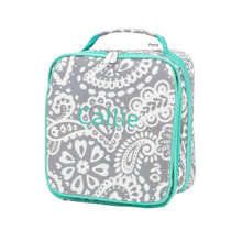 Monogrammed Kid Lunch Boxes Parker Paisley