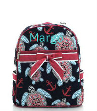 Personalized Kids Backpacks Turtle Anchor
