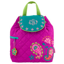 Personalized Kids Quilted Kids Bags or Custom Diaper Bags Paisley