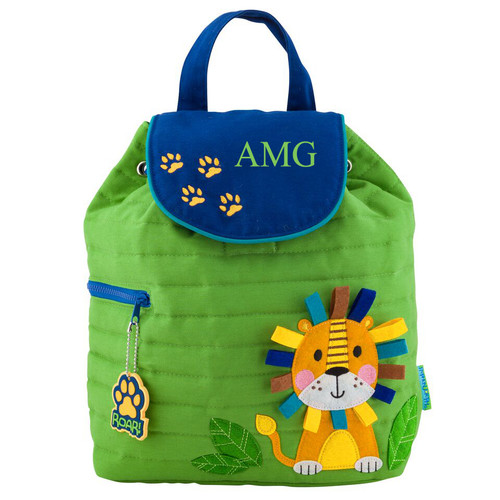 Personalized Kids Quilted Backpacks Or Custom Diaper Lion