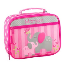 Monogrammed Kids Lunch Box in Elephant Classic Lunch