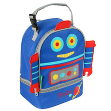 Monogrammed Kids Lunch Boxes in Robot Pals