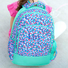 Kids Backpack- Kids Personalized -Monogrammed Kids Backpack -Confetti pop Print