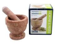 RSVP Red Marble Mortar and Pestle