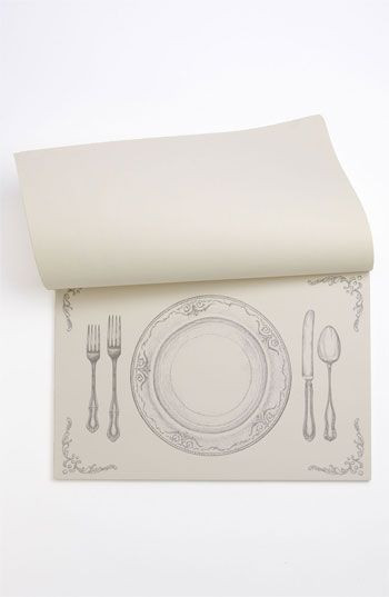 Kitchen Papers Paper Placemats   Black U0026 White