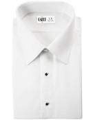 Como White Laydown Collar Tuxedo Shirt - Men's Small