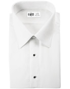 Como White Laydown Collar Tuxedo Shirt - Men's Large