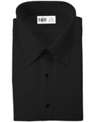 Como Black Laydown Collar Tuxedo Shirt - Men's 4X-Large