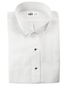 Lucca White Wingtip Collar Tuxedo Shirt - Men's Medium