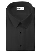 Enzo Black Laydown Collar Tuxedo Shirt - Boy&#039;s Large